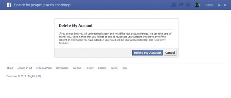 طريقة حذف حساب فيس بوك بشكل نهائي