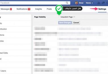 unpublished Facebook Pages