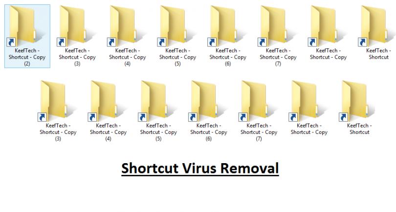 إزالة فايروس الإختصارات